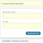 Die Registrierung ist einfach und schnell